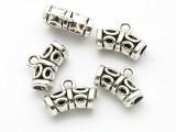 Pewter Bead - Curved Tube w/Bail 3mm (PB881)
