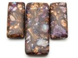 Bronzite & Purple Mosaic Jasper Gemstone Pendant - Set of 3 (GSP2386)