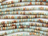 Aqua Terra Jasper Rondelle Gemstone Beads 4mm (GS4798)