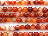 Carnelian Faceted Round Gemstone Beads 8mm (GS4803)