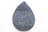 Lapis Lazuli Teardrop Gemstone Pendant 46mm (GSP2391)