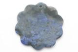Lapis Lazuli Flower Gemstone Pendant 40mm (GSP2392)