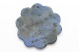 Lapis Lazuli Flower Gemstone Pendant 40mm (GSP2394)