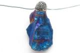 Electroplated Quartz Embellished Gemstone Pendant 49mm (GSP2401)