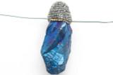 Electroplated Quartz Embellished Gemstone Pendant 59mm (GSP2402)