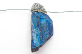 Electroplated Quartz Embellished Gemstone Pendant 50mm (GSP2405)