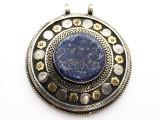 Afghan Tribal Silver Pendant - Lapis Lazuli 66mm (AF878)