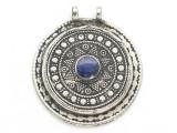 Afghan Tribal Silver Pendant - Lapis Lazuli 43mm (AF896)