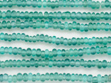 Aqua Mix Irregular Rondelle Glass Beads 6mm (JV1266)