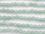 Aqua Gray w/White Center Glass Beads 8mm (JV1273)