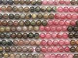 Watermelon Tourmaline Round Gemstone Beads 5mm (GS4840)