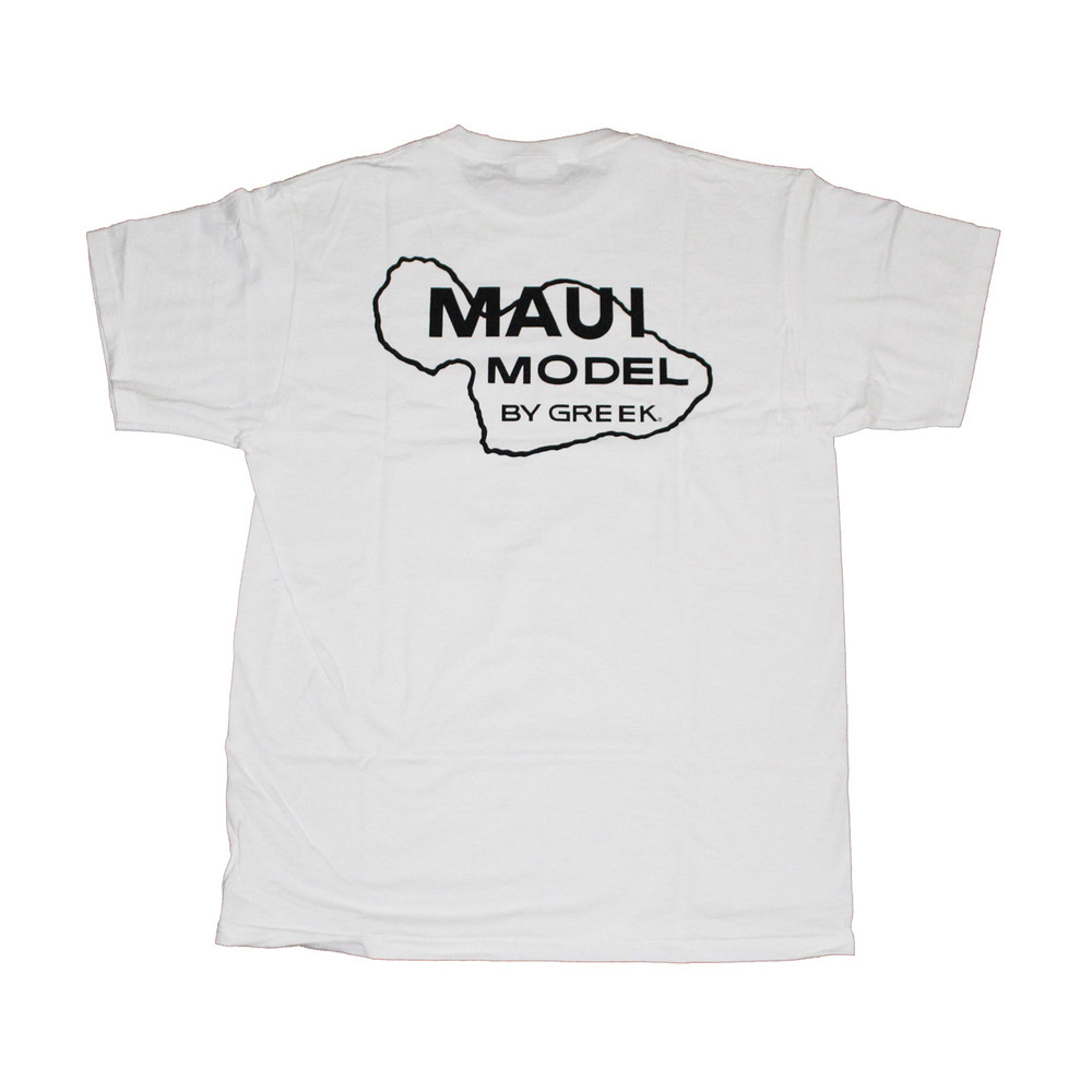 Greek surfboards model t t shirt white for T shirt printing maui