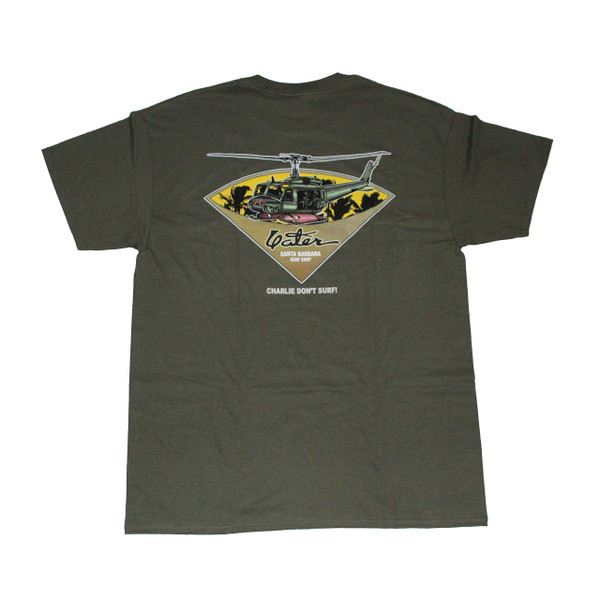 Army green charlie don 39 t surf surfer t shirt from yater for Surf shop tee shirts