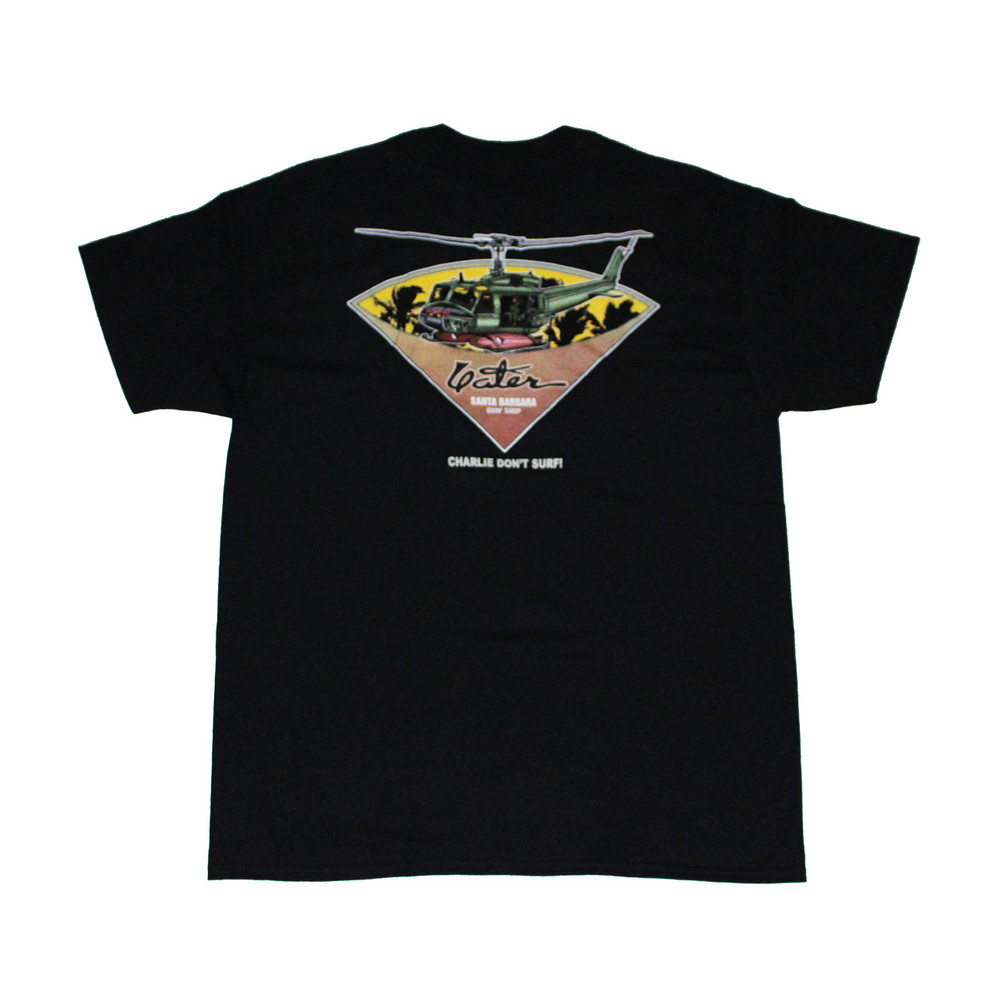 Black charlie don 39 t surf surfer t shirt from yater for Surf shop tee shirts