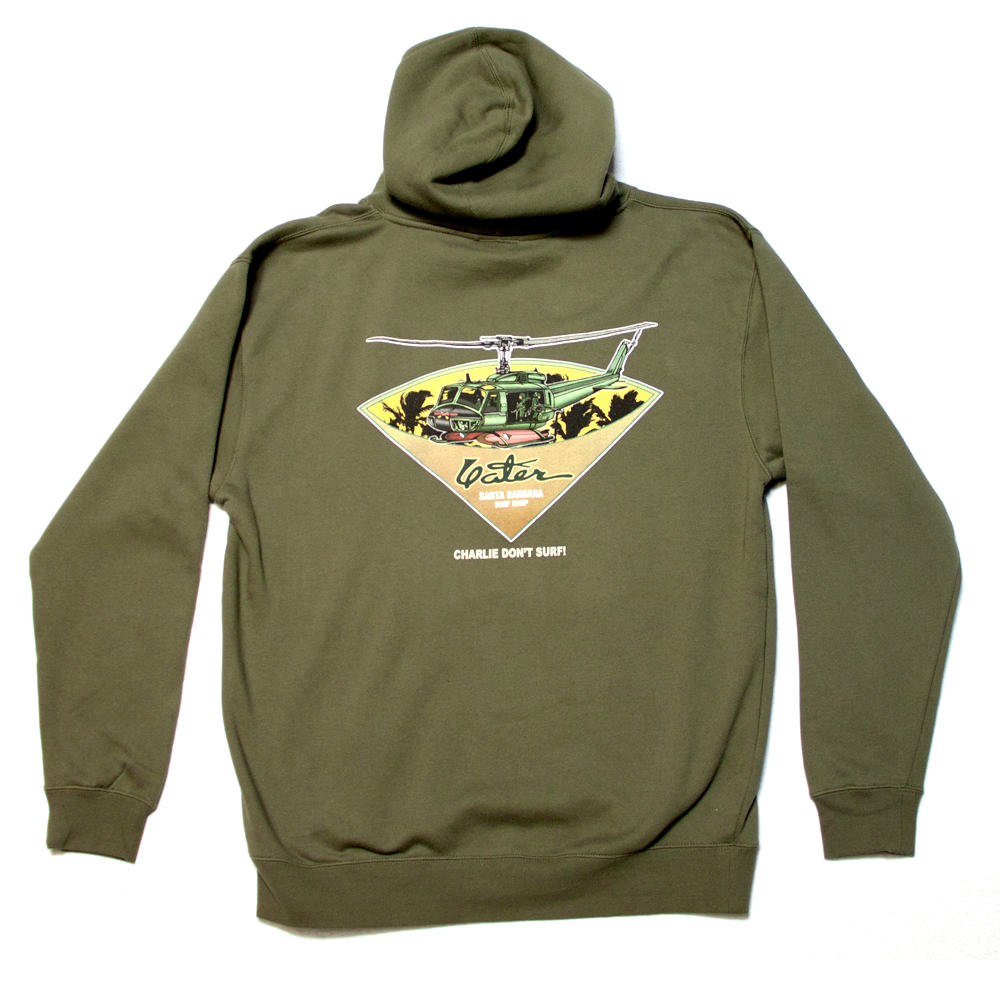 Yater Charlie Don 39 T Surf Hoodie Army Green Last Wave