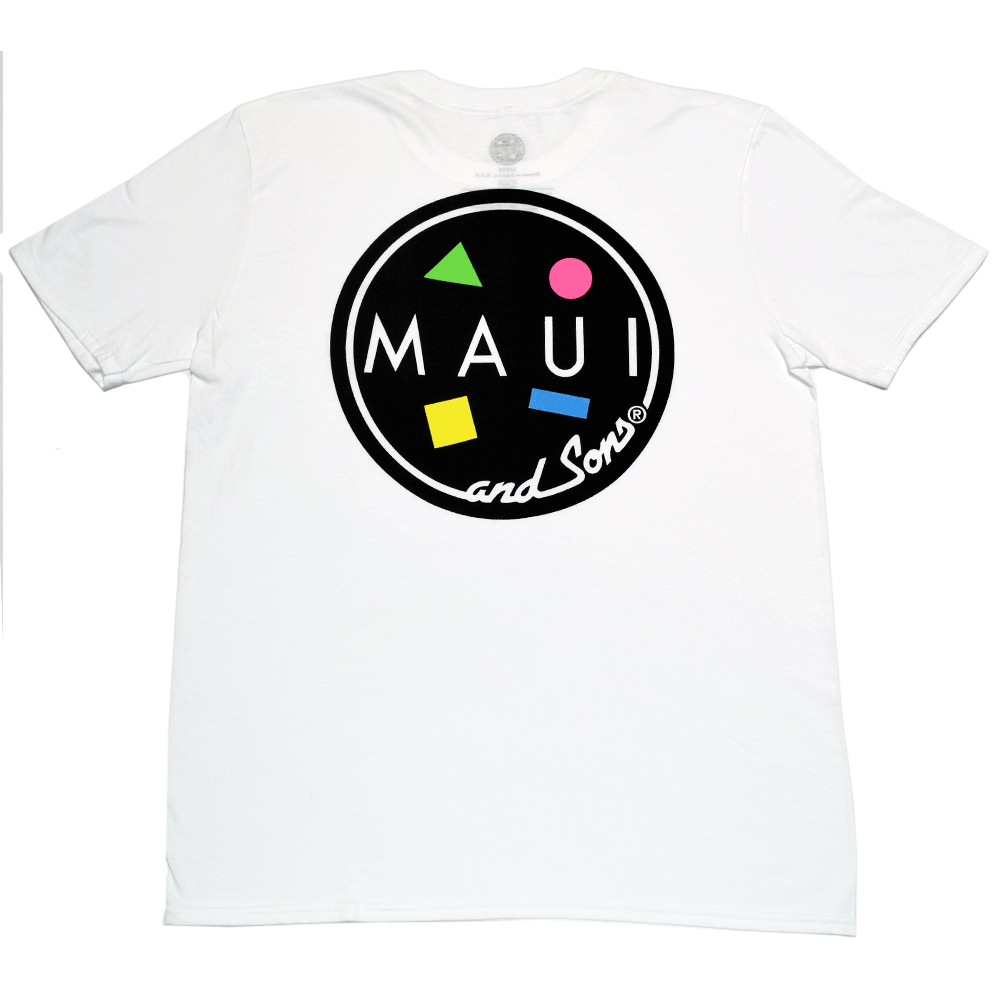 Maui and sons cookie t shirt white last wave originals for T shirt printing maui