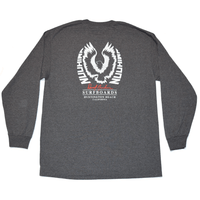 David Nuuhiwa Eagle Long Sleeve T-Shirt - Charcoal