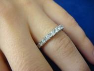 14k White Gold 0.65 CT Diamond Wedding-Anniversary Band