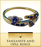 Tanzanite and Opal Rings