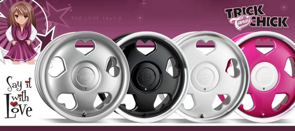 """16"""" Tansy Love Alloy Wheels-Various Colours available"""