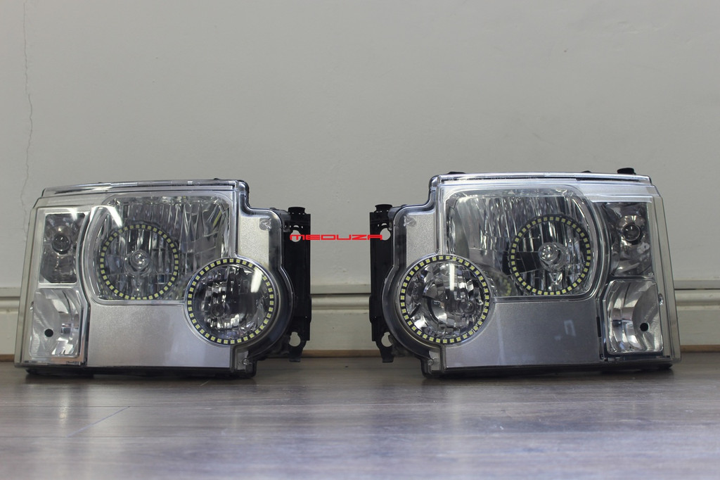 Rover Discovery 3 Headlights USED converted 2012 Spec LED Lighting