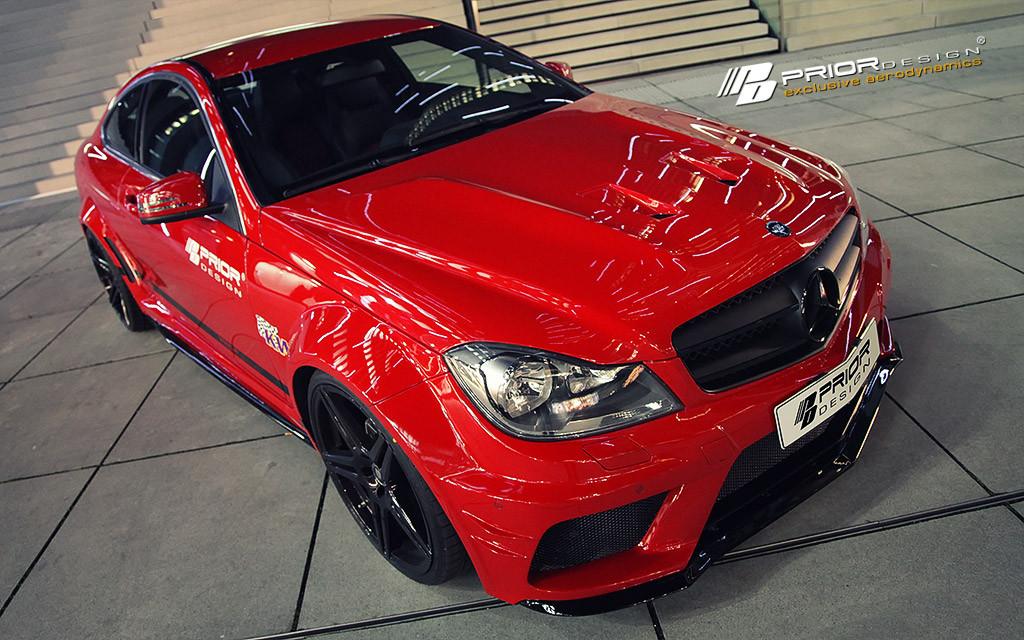 Mercedes C Class Coupe W204 Prior Design Wide Bodykit