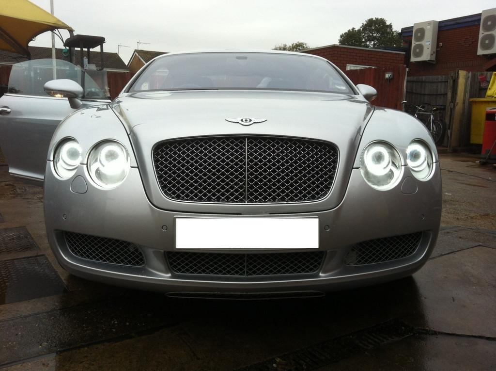 Bentley Continental GT LED Headlight upgrade 2012 Spec