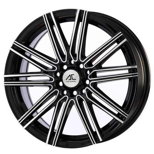"AC Volt 17"" Alloy Wheels Black Polished"