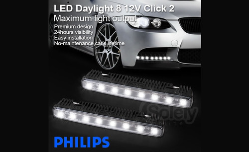 Philips Luxeon LED Daylight 8 Daytime Running Light DRL Kit