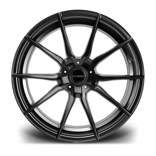 "19"" Riviera RV193 Matte Black Staggered Fitment"