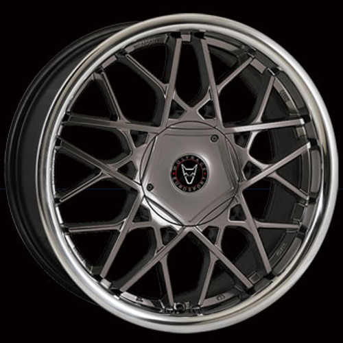 "18"" Alloy Wheels Wolfrace Eurosport Blitz - Gun Metal/ Stainless Steel Lip"