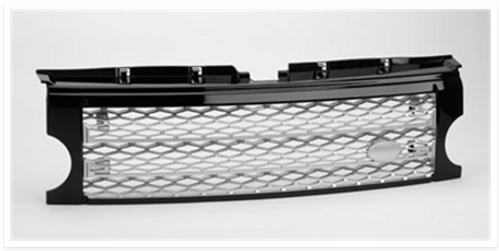 Land Rover Discovery 3 Supercharged Look Grill Black with Silver Mesh