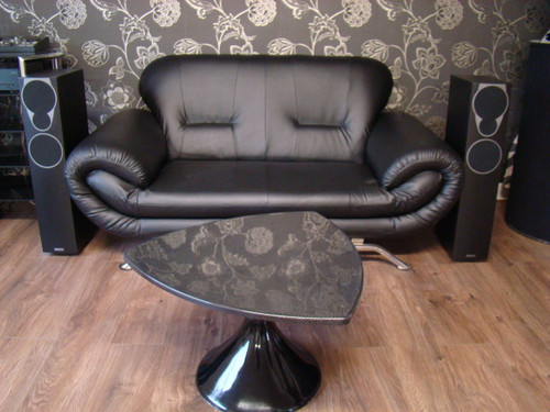 1960`s Tulip Style Small Coffee Table Carbon Fibre