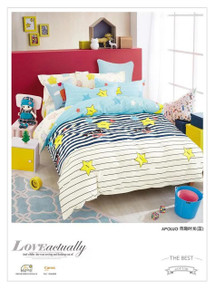 [50% OFF!] Kids Cotton Print Quilt Cover Set - NL1727