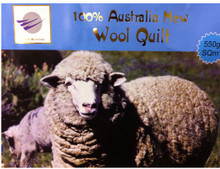 [50%OFF]550g 100% Australian Pure Wool Quilt
