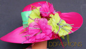 Kentucky Derby Multicolored Wide with Floral Spray
