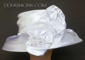 Satin Cloche with Matching with Layered Vertical Bow