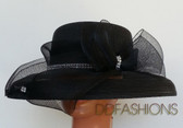 Ladies hats black elegant jeweled band