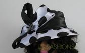 Ladies large polka dot with black crown