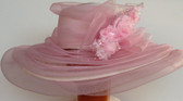 Wide Brimmed Pink Hat