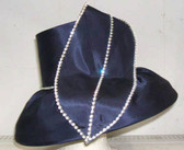 Small Brimmed Hat Designed With a Large Leaf and Rhinestones