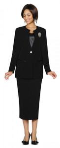 Black Ladies Suits - 3 piece GMI lined suit