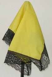 HC112 - Black on Yellow Ladies Handkerchief