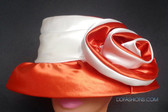 Gorgeous Duo Tone Hat, Red and White