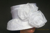 White Ladies Hat, Large Floral Cluster