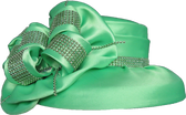 Gorgeous Green Ladies Hat Oversized Bow