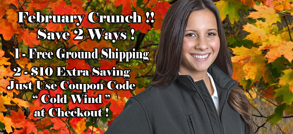 $10 OFF EACH ITEM Plus Free Ground Shipping through February!