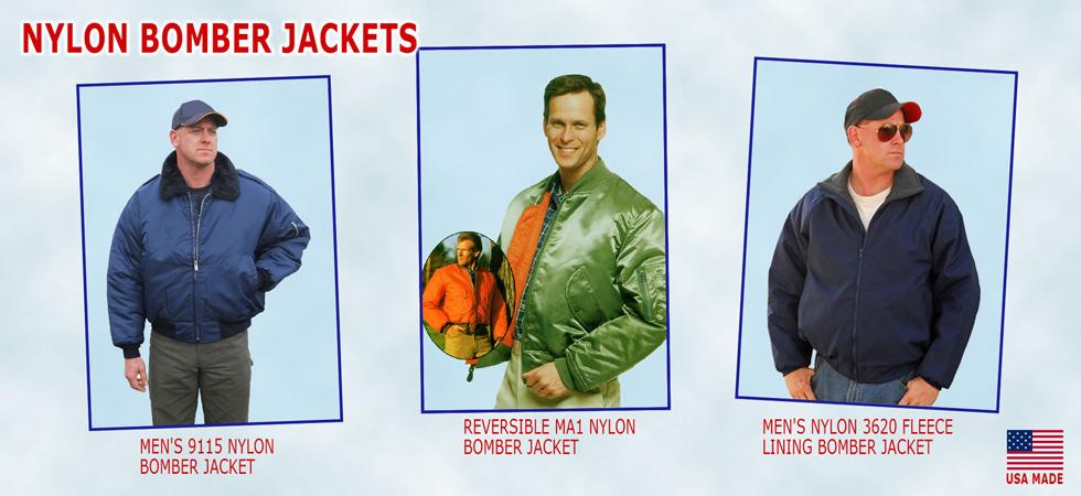 American made nylon bomber jackets