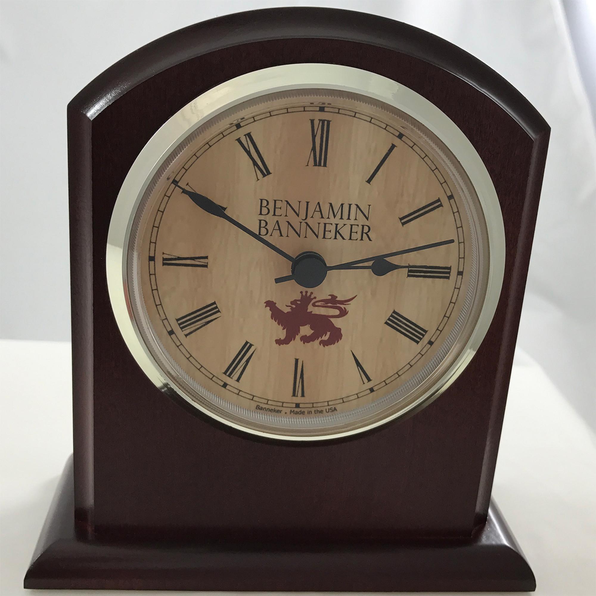 Benjamin banneker wood clock banneker clock the 3500 bc shown here in burgundy amipublicfo Images