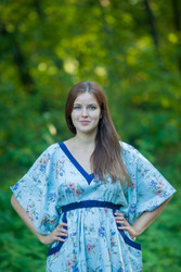 """Breezy Bohemian"" kaftan in Romantic Florals pattern"